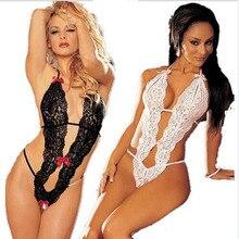 Sexy Lingerie Lace Bodysuits Sleepwear Pajamas Langerie Erotic Uniform Women's Underwear Conjoined Dress Leotard Intimates A120