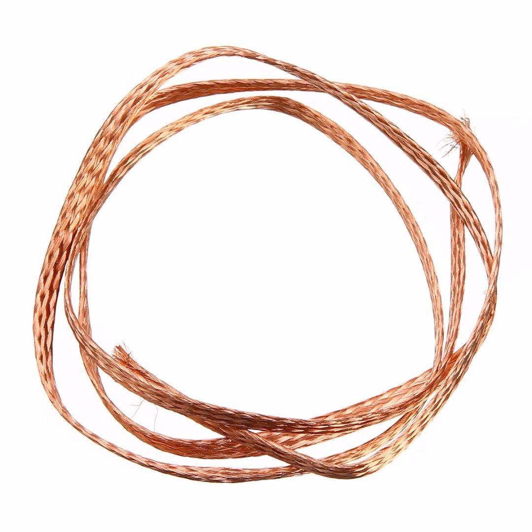 Mayitr Durable Pure Copper Flat Braid Cable Bare Copper Braid Wire ...