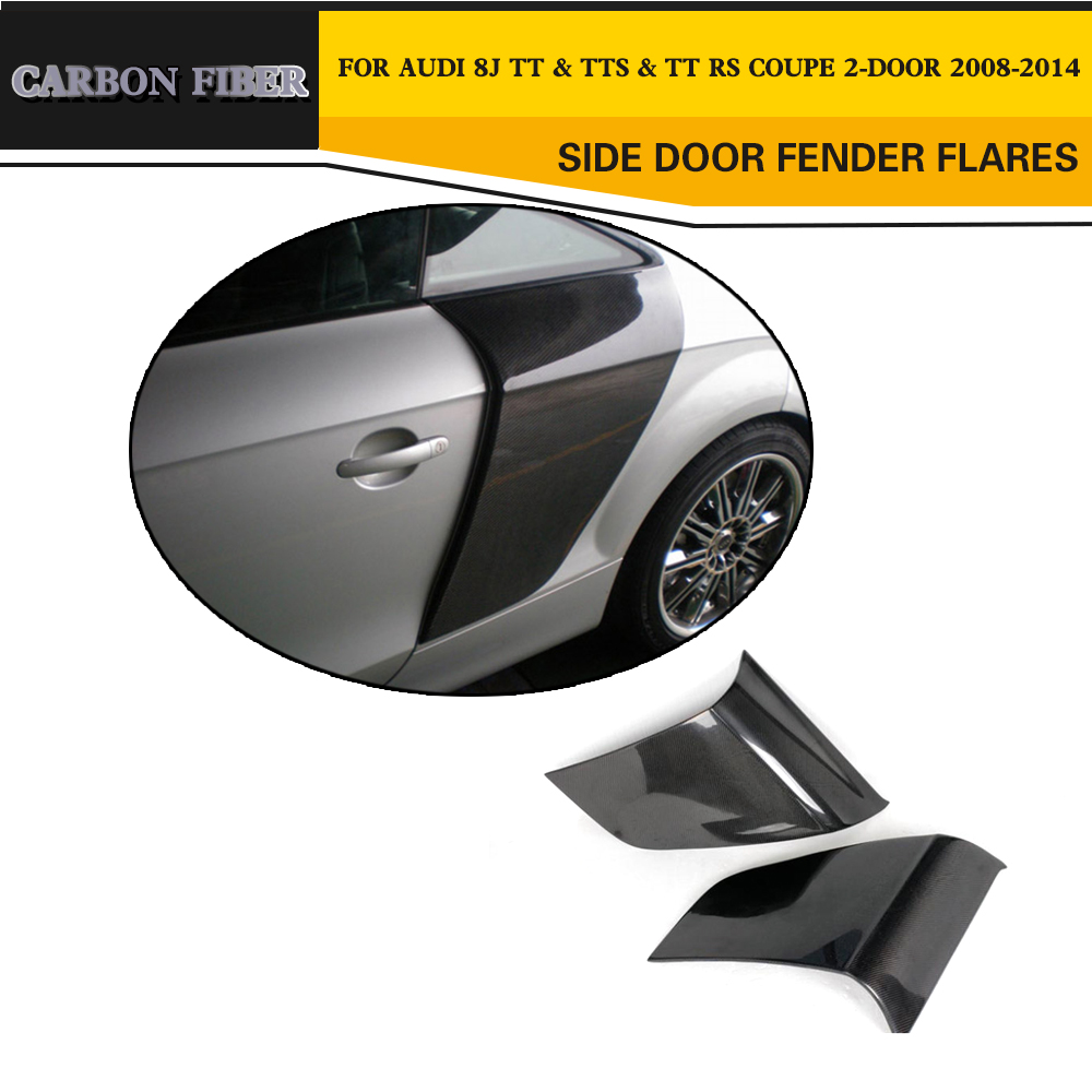 Carbon Fiber Racing Side Door Fenders Flares for Audi TT MK3 Type 8S TTS TTRS TT S Line Coupe 2 Door 07-17 2Pc R8 Style бокс оптический huawei hg8245 epon
