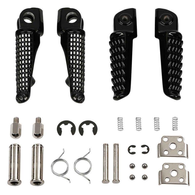 Мотоциклетные Передние Задние подножки для Kawasaki GTR1400 ZZR1400 ZX14 ZX-9R черный ZX6R 2003-2011 ZX-10R 2004-2012