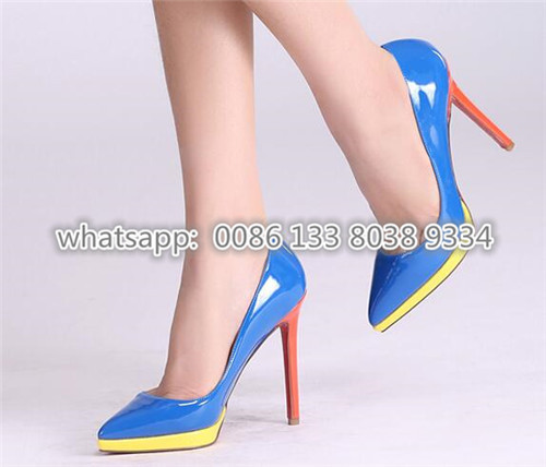 232915f003156 free ship women high heel platform point toe candy color dress shoes high  heels pumps bright color for women lady shoes