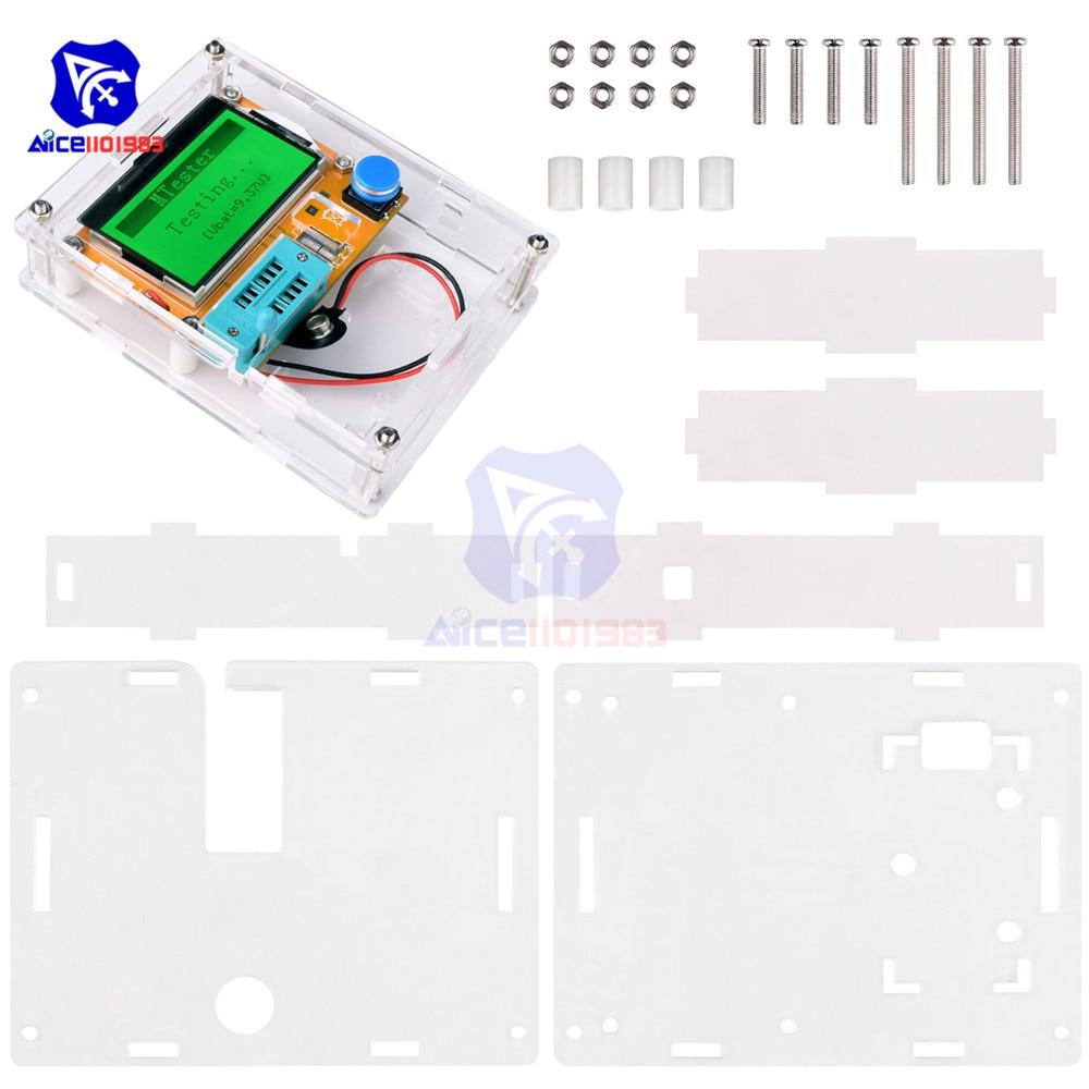 Mega328 LCR-T4 M328 Multimetr Transistor Tester ESR Meter Diode Triode Capacitance ESR Meter MOS PNP NPN LCR With Case Shell Box