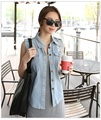 Summer hole jean jacket female loose sleeveless vest vest short jacket summer south Korean style  SK25