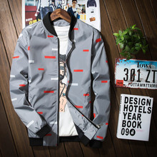 Демисезонный Куртки Для мужчин Курточка бомбер Модная брендовая куртка Для мужчин одежда тенденция Колледж Slim Fit высокого качества Повседневное Для мужчин S Куртки