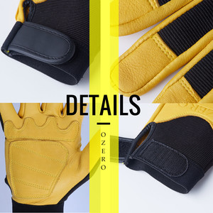 Image 4 - OZERO Mens Work Gloves Deerskin Leather Driver Security Protection Wear Safety Workers Working Racing Moto Gloves For Men 8003