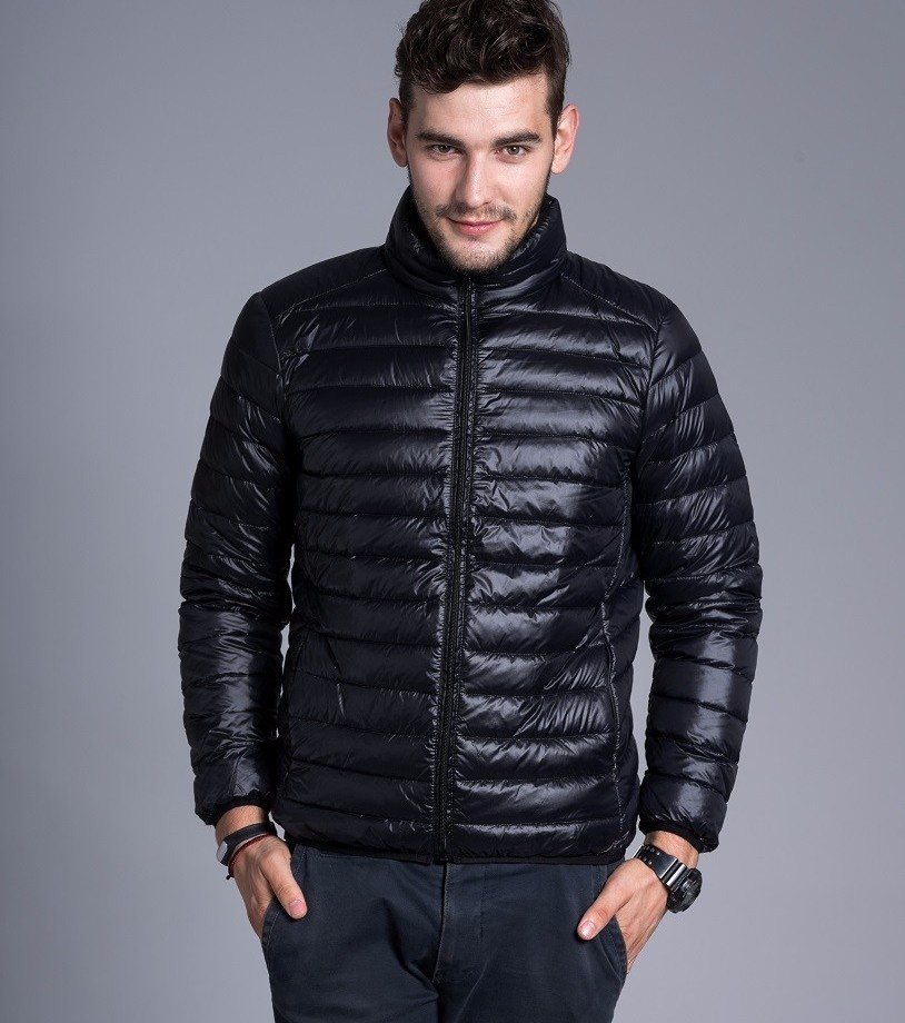 Men casual warm Jackets solid thin breathable Winter Jacket Mens outwear Coat Lightweight parka Plus size XXXL hombre jaqueta 3