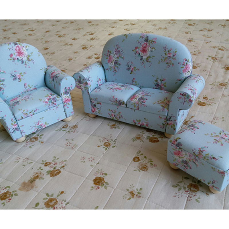 1//30 Dollhouse Min Double Sofa for Living Room Furniture Accessory Blue