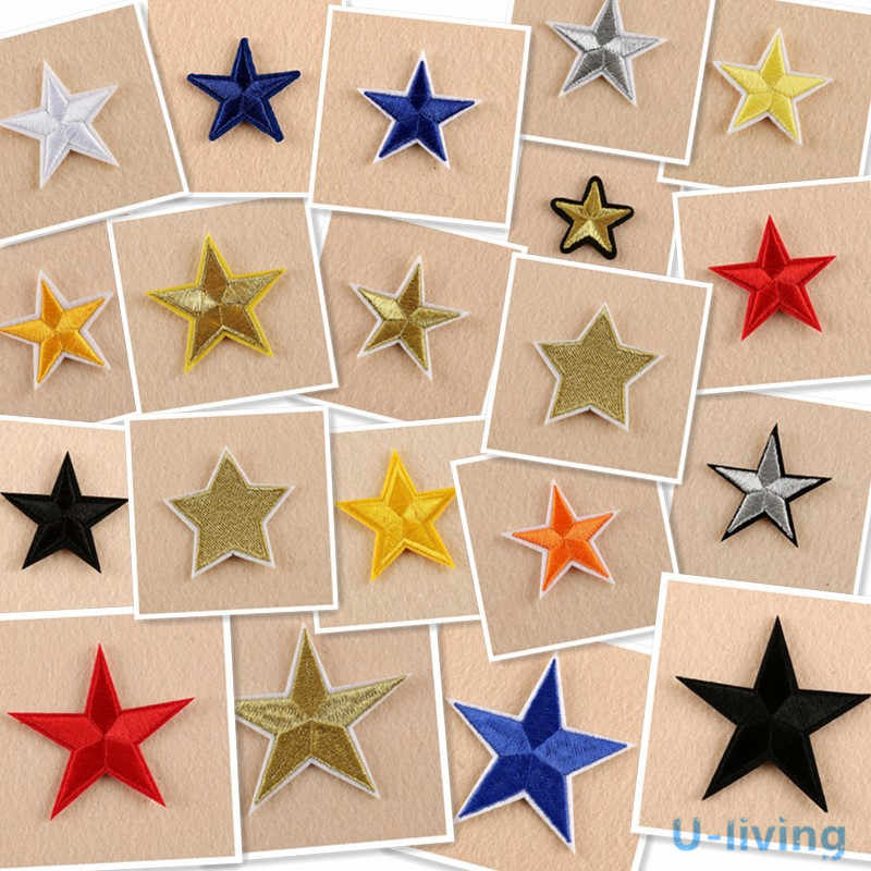 1pcs mix Star Patch for Clothing Iron on Embroidered Sew Applique Cute Patch  Fabric Badge Garment dea01a2e95b8