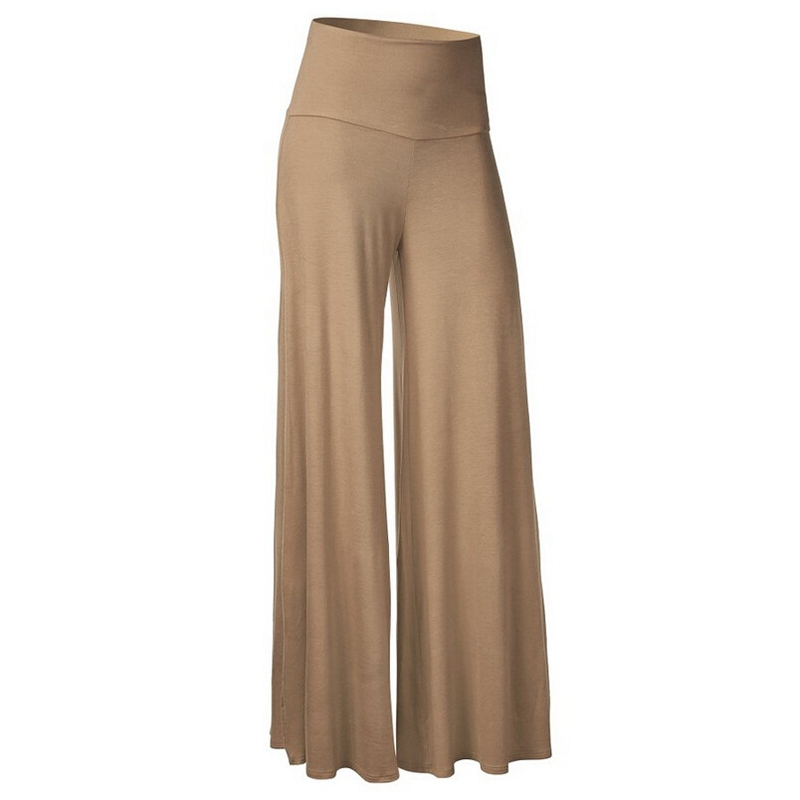 LITTHING 2019 Fashion Spring Solid Women Pleated Ruffles   Pants   Women Loose Long Falbala   Pants   High Waist   Wide     Leg     Pants   S-3Xl