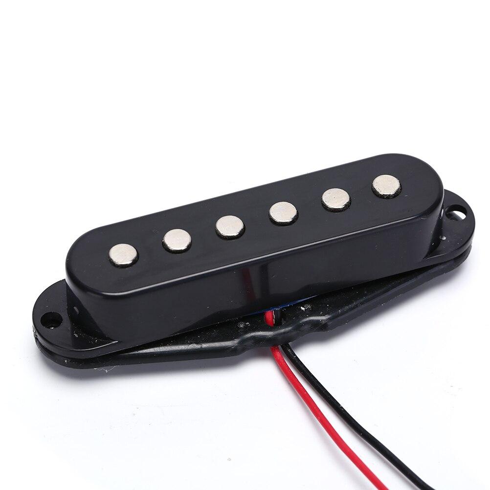 Harmonioso Som Captador Single Coil para 6 Cordas Da Guitarra Elétrica Preta