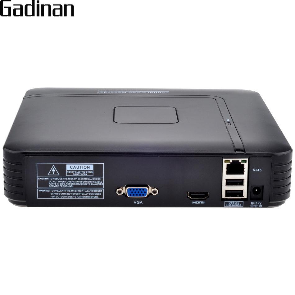 GADINAN Mini NVR 8CH 1080 P ou 12CH 960 P NVR HDMI Réseau Enregistreur vidéo CCTV NVR ONVIF Détection de Mouvement CCTV NVR H.264 P2P