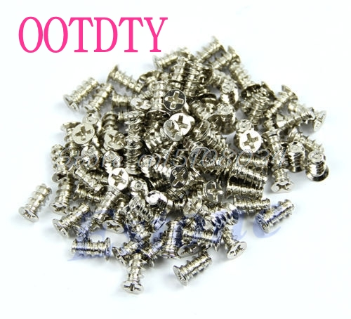100Pcs Silver Computer PC Case Cooling Fan Heat Dissipation Screws Fixer Sale S08 Drop ship new 3u ultra short computer case 380mm large panel big power supply ultra short 3u computer case server computer case