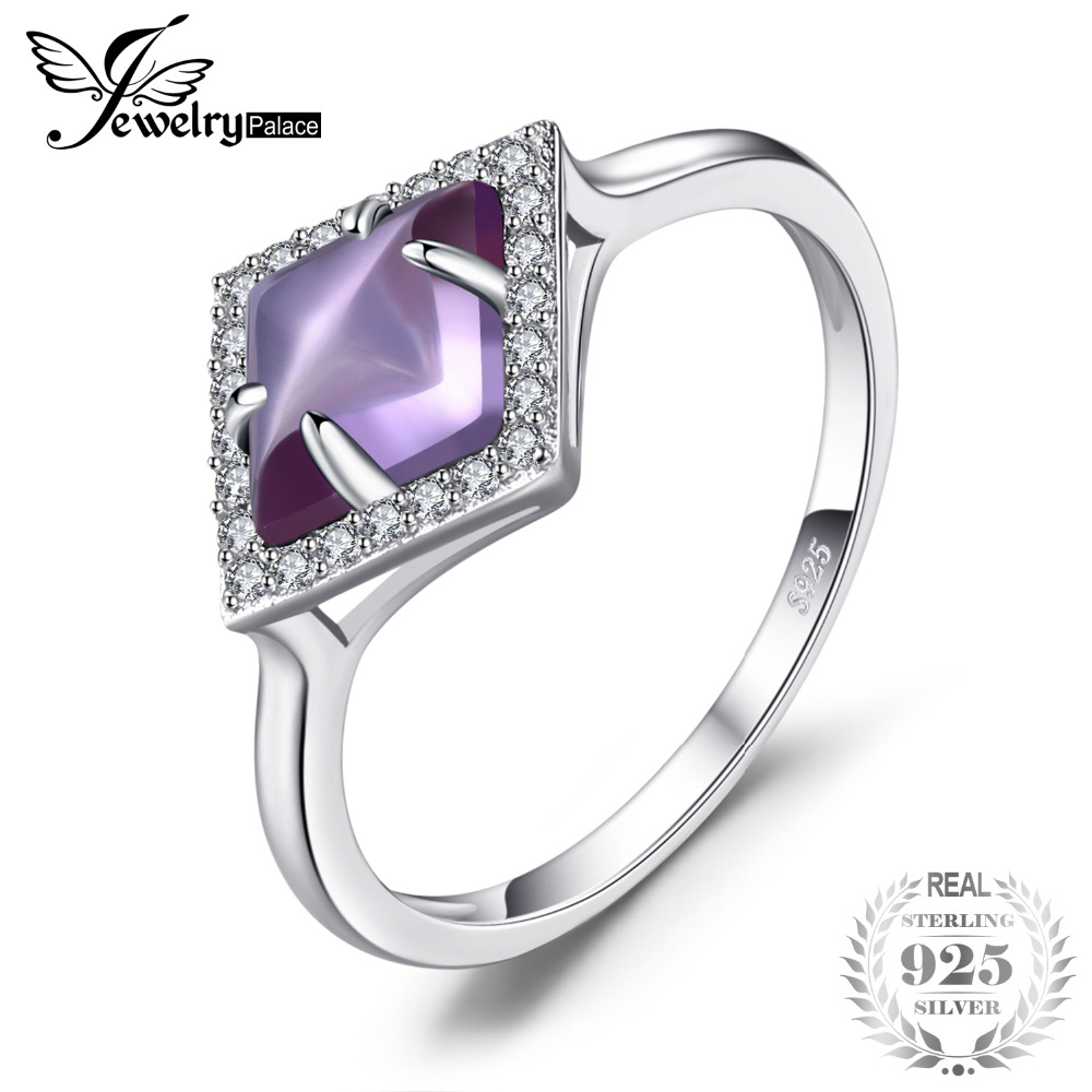 JewelryPalace Fancy 2.0ct Created Alexandrite Sapphire Halo Ring For Women Fine 925 Sterling Silver Ring Classic Fine Jewelry цена