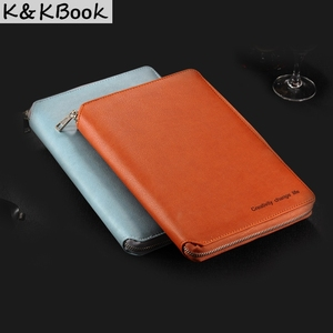 Image 4 - K&KBOOK KK009 Leather Notebook A5 A6 Binder Spiral Notebook Diary Journal Planner Agenda 2018 Large Capacity Padfolio Cardeno