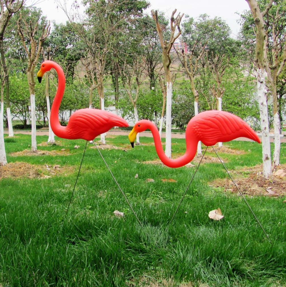 Flamingo garden ornament - 1pair Plastic Watermelon Red Flamingo Garden Yard And Lawn Art Ornament Wedding Ceremony Decoration 31