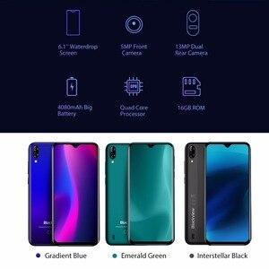 Image 3 - Blackview a60 smartphone android ir 8.1 4080mah bateria 19:9 6.1 polegada câmera dupla 1gb ram 16gb rom telefone móvel 13mp + 5mp câmera