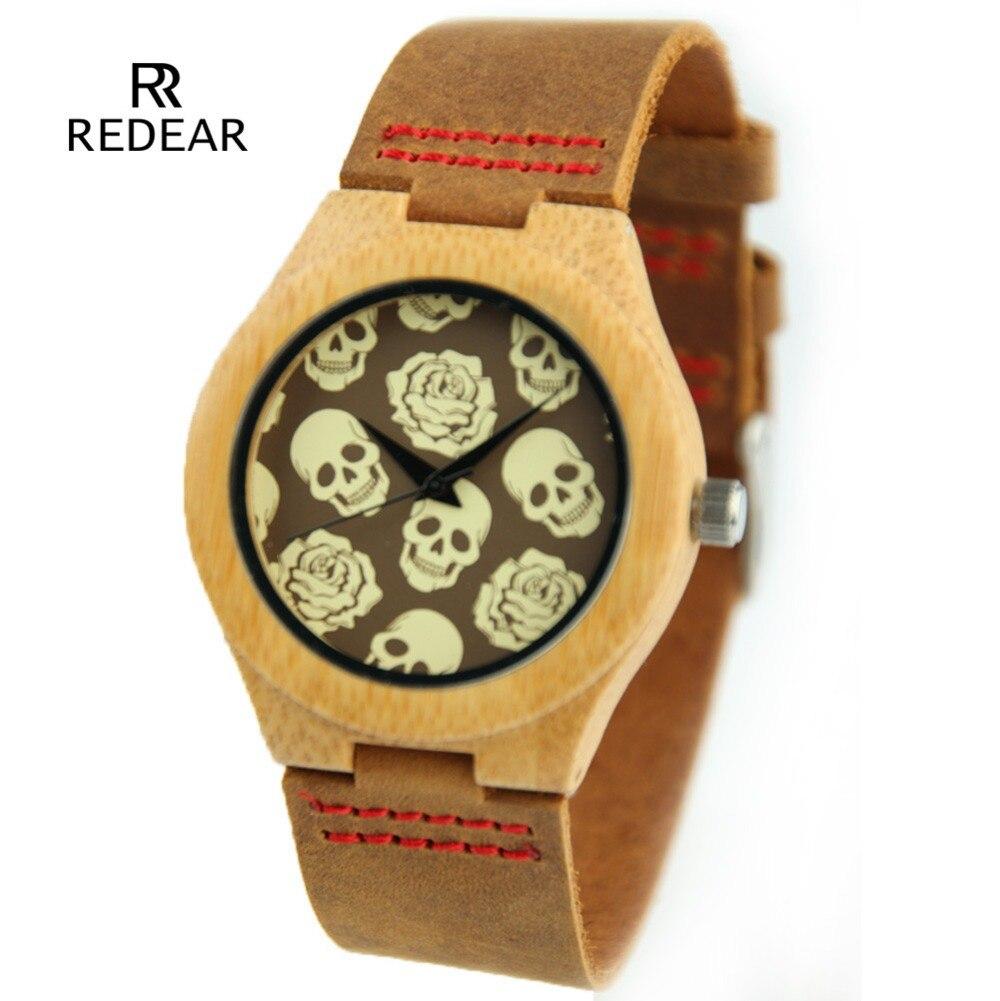 font b Lovers b font Vintage font b Wooden b font Wristwatch Skull Dial Wrist