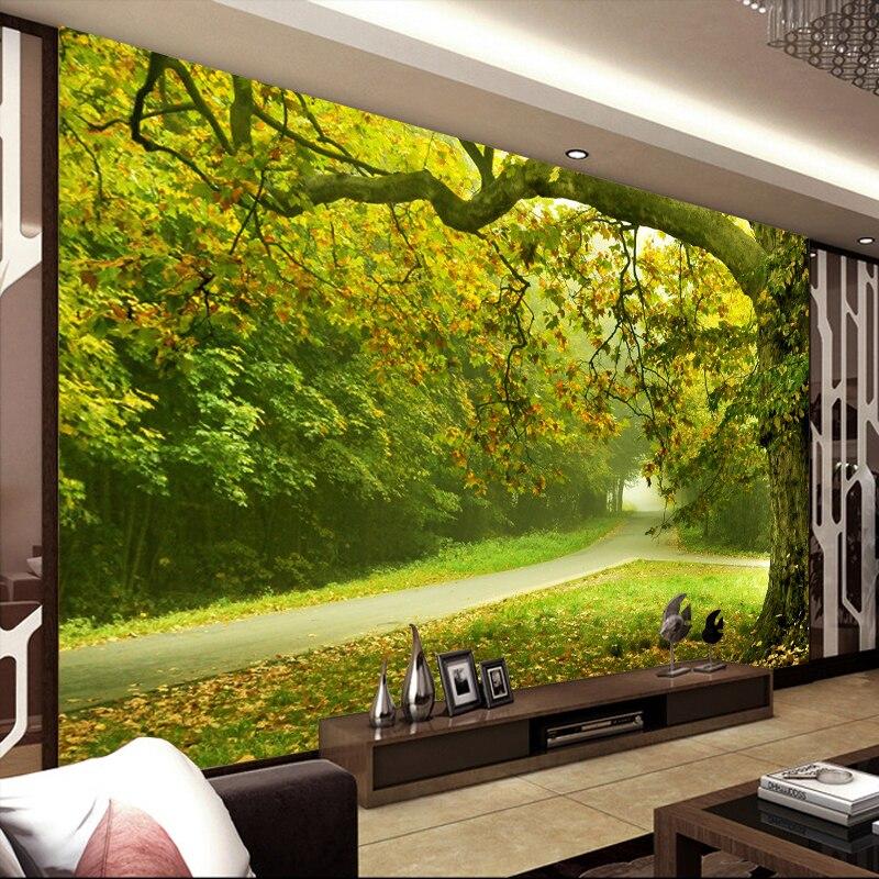 Custom Modern 3d Simple 3D Stereo Mural Nature