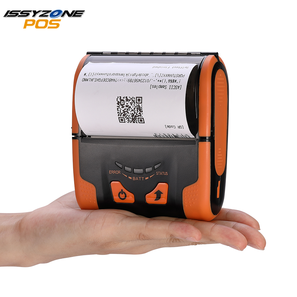 IssyzonePOS USB Bluetooth Thermal Printer 80mm Mobile Mini Removable Battery Portable Printer Support PDF Web Receipt  Printing