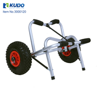 Portable Folding Kayak Trolley Canoe Carrier Cart with Removable Wheels and Aluminum Rubber
