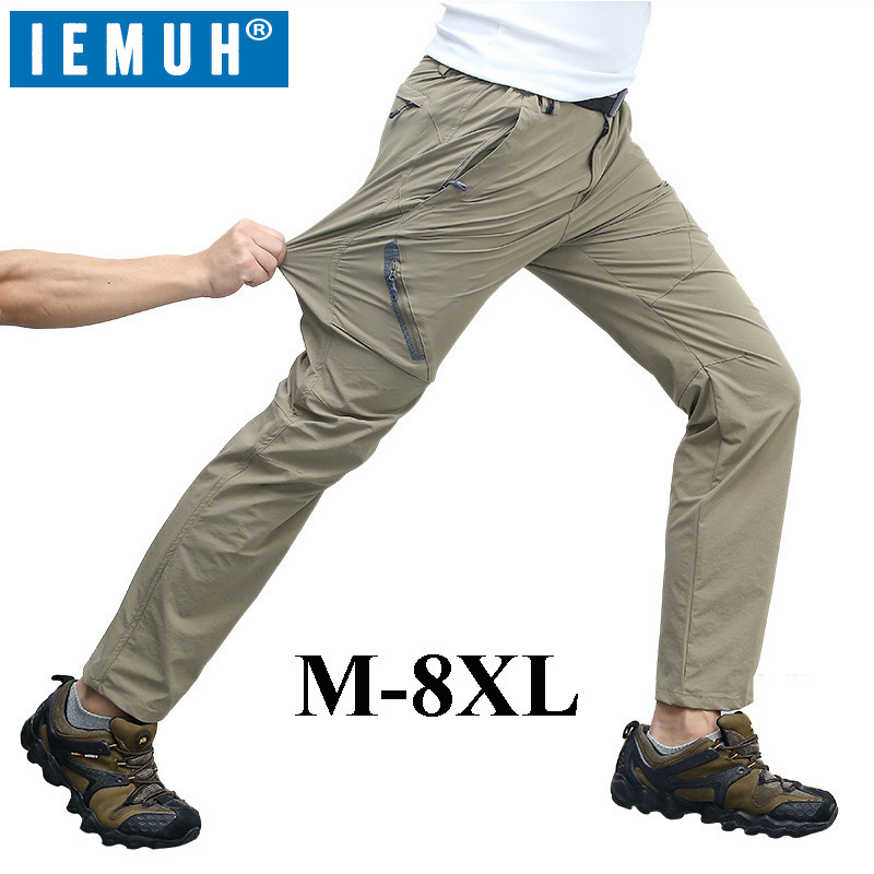 IEMUH M-8XL 2017 New Arrived Summer Outdoor Quick Dry Pants Men,Waterproof Trousers,Hiking Camping Climbing Fishing Pants 7XL цена