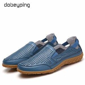 Image 3 - חדש אמיתי עור נשים קיץ נעלי מגזרות אישה ופרס אופנה חלול נשים של דירות לנשימה נשי נעל dobeyping