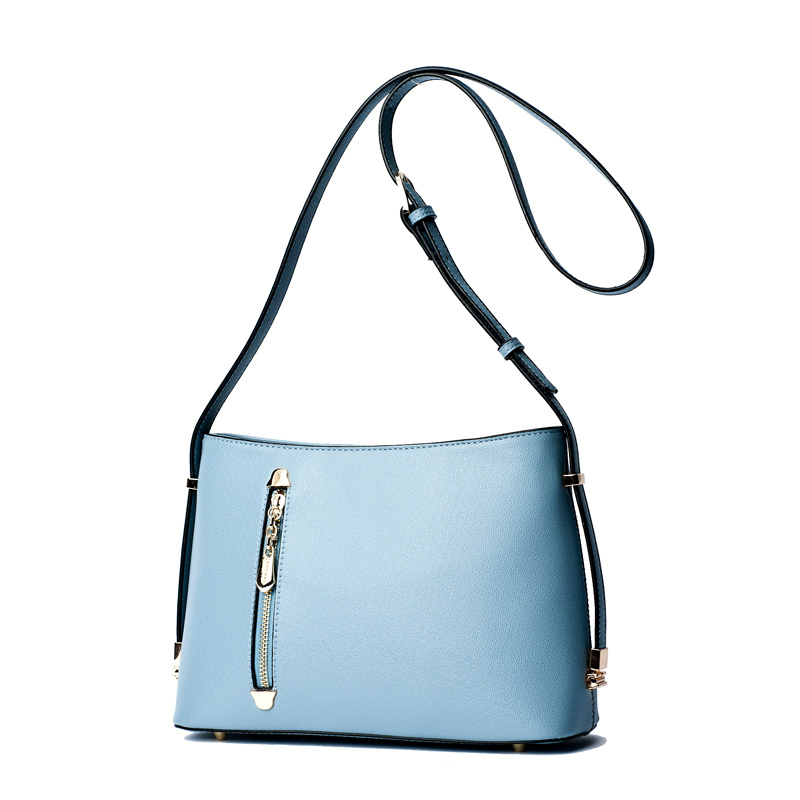 Doodoo Women's New Fashion Style Zip Leather Bag Small Purse Shoulder Crossbody Bag