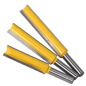 Image 2 - Haste extra longa 3 lâmina 8mm 1 peça 8mm, dia de corte. Ponteira roteadora reta cortador de madeira tenon cortador para trabalho de madeira