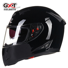 GXT Motorcycle Helmets Motocross Racing Helmet Motorbike Full Face Dual Shield Moto casco Protective Gear easy clasp closure 358