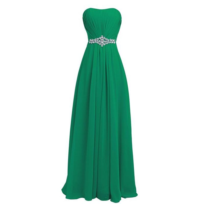 Simple Aline Prom Dress 2019 Women Long Mint bridesmaid dresses Chiffon Evening Prom Party Dresses Evening Gowns Zipper  G044