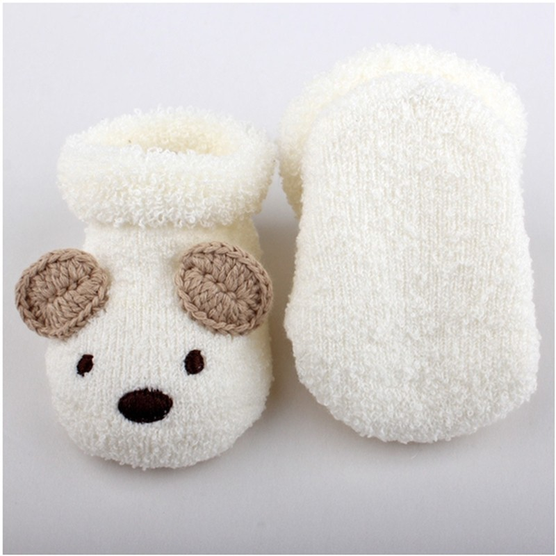 e0f5c71b0 2 Pairs lot Fashion BABY SOCK Cartoon White Bear Infant Girl Boy ...