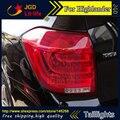 Car Styling luzes da cauda para a Toyota Highlander 2012 2013 CONDUZIU A Lâmpada de Cauda traseira tronco tampa da lâmpada drl + sinal + freio + reverso