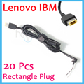 20PCS Rectangle DC Power Charger Plug Cable Connector for IBM/LENOVO Thinkpad X1 Carbon M490S Yoga 11 13 Square  yellow tip