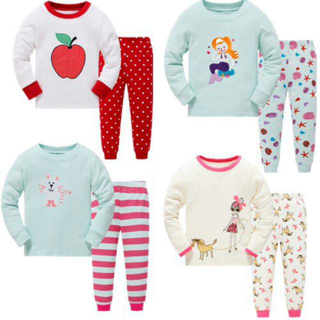 8fe1d4bd5 Syue Moon Boys Pajamas Sets 2017 Kids Cute Girl Pyjamas Children 100 ...