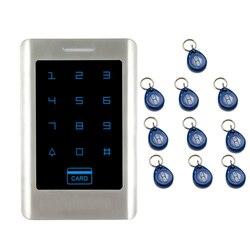 JEX новый сенсорный ключ RFID Пароль контроллер доступа металлическая кнопка подсветки система управления дверью в наличии БЕСПЛАТНАЯ ДОСТАВ...