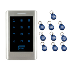 JEX NEW Touch Key RFID Password Access Controller Metal Backlight button Door control system In Stock FREE SHIPPING