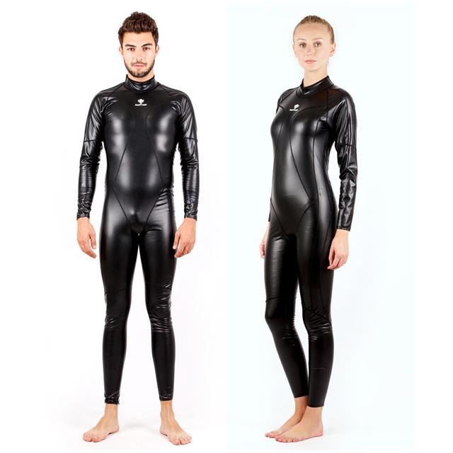 Fanceey One Piece Full Body Couple Swimsuit Triathlon Wetsuit Women PU Waterproof Scuba Diving Suit for Men Wetsuit Spearfishing