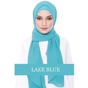 Image 5 - Chiffon Abaya Turkey Hijab Muslim Dress Kaftan Dubai Abayas For Women Qatar Ramadan Caftan Marocain Jilbab Robe Islamic Clothing