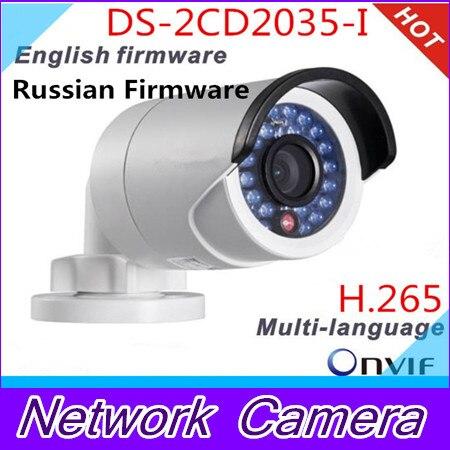 Multi-language IP camera DS-2CD2035-I Replace DS-2CD2032-I (4 optional) 1080p 3MP camera Infrared CCTV camera POE newest hik ds 2cd3345 i 1080p full hd 4mp multi language cctv camera poe ipc onvif ip camera replace ds 2cd2432wd i ds 2cd2345 i
