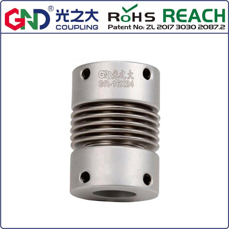 Acoplamiento de eje de serie superior de fuelle de aleación de aluminio GR D16 L27; d1 d2 tiene 4/5/6/6. 35/7/8mm 5 uds LC / PC hembra a SC / APC macho fibra óptica brida adaptador de acoplamiento envío gratis
