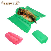 DINIWELL Silicone Food Steamer Lunch Box Healthy Cooking Fish Bowls Baking Tools Microwave Oven Safety