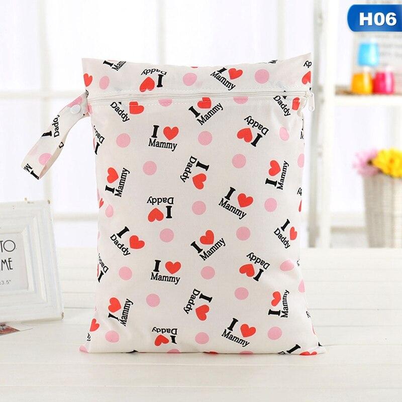 Einzel Tasche Nass Tasche Baby Tuch Windel Wasserdichte Mehrweg Windel Taschen Kleine Größe Trockenen Tasche Großhandel Kostenloser Versand 100% Garantie