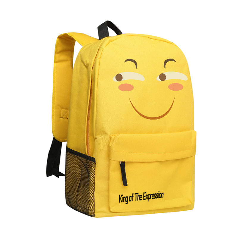 Zshop King of the Expression Backpack for Children Funny Faces School Bag