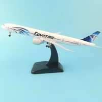 AIR PASSENG PLANE 20CM B777 EGYPTAIR METAL ALLOY MODEL PLANE AIRCRAFT TOY WHEELS AIRPLANE BIRTHDAY GIFT COLLECTION DESK TOY