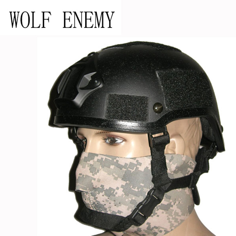 Army Military Thickness Puls Frame Tactical MICH 2001 Helmet Wargame Paintball Player Helmet tactical wargame motorcycling helmet w eye protection glasses grey black size l7