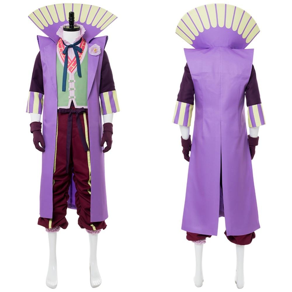 2018 DC Movie Batman Ninja Joker Costume Outfit Halloween Cosplay Costume Japanese Style Uniform