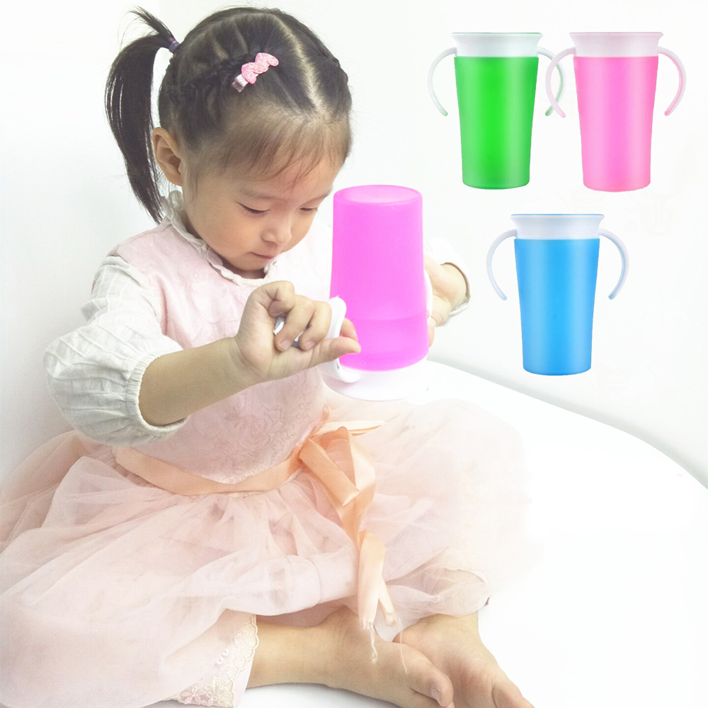 Children Baby Training Cup Safety Silicone Feeding Water Cup Straw Cups Tazas Copo Drinking Magic Water Bottle Learn Drink Cup