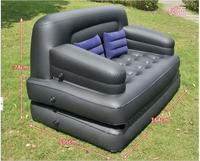 Современные стекаются ПВХ пять в один открытый диван кровать квартира раскладной многофункциональный надувной воздух дома диван