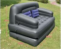 Modern Flocking pvc five in one outdoor sofa bed apartment folding multifunctional inflatable air home sofa