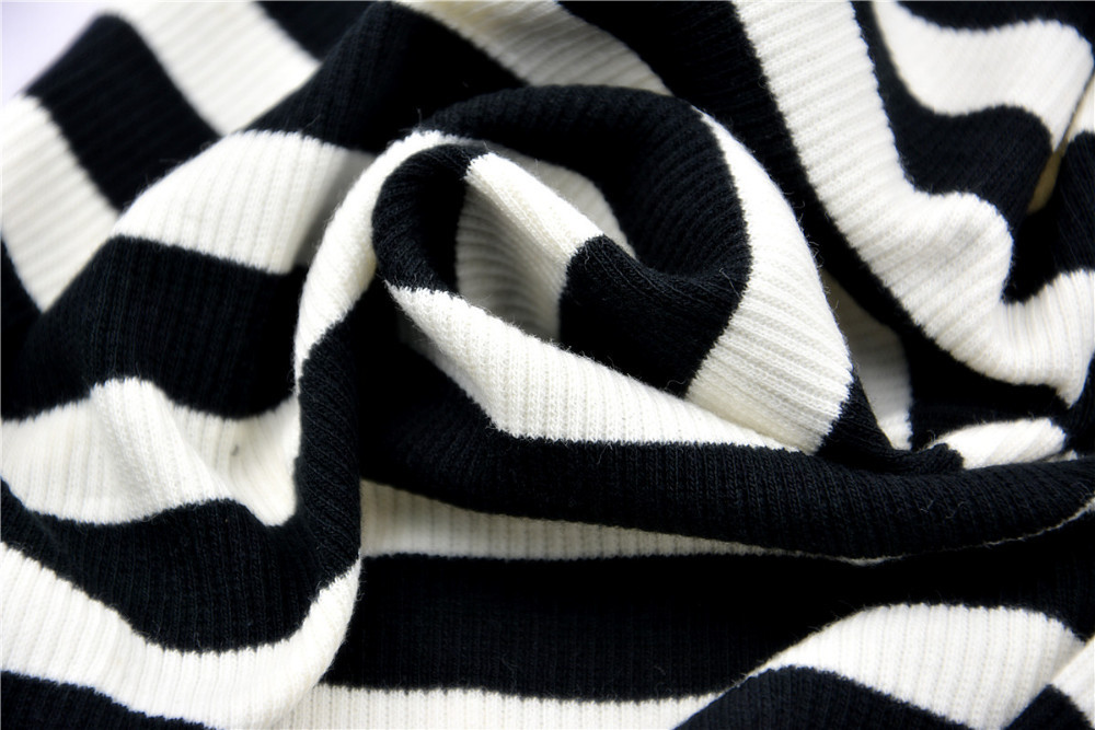 HTB19yHyJXXXXXXPaXXXq6xXFXXXy - Blusa black white striped blouse shirts long sleeve